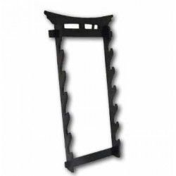 Martial Arts Weapons Stand - Tori Gate Sword Stand 6 Tier Wall Mounted