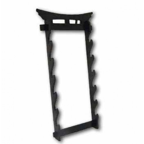 Martial Arts Weapons Stand - Tori Gate Sword Stand 6 Tier Wall Mounted, Martial Arts, 6 Tier Stand, ,