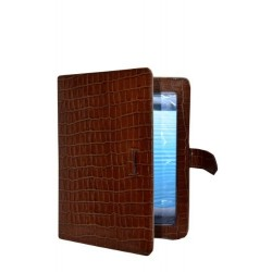 iPAD 2 3 & 4 TAN CROCODILE CROC Print Luxury Real Genuine Leather Cover Case Stand i Pad