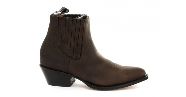769a3fed96e4f Grinders Ladies Maverick Brown Genuine Leather Ankle Boot Western Cowboy  Boots, Ladies Grinders, Grinders Ladies Maverick Brown, ,