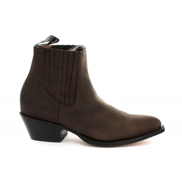 Leather cowboy ankle boots Women