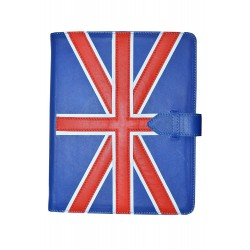 IPAD New 2 3 & 4 Union Jack Flag Luxury Real Genuine Leather Cover Case Stand