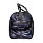 DUFFLE Black Crocodile Print Weekend Holdall Travel Gym Real Genuine Leather Bag, Leather Holdalls, DUFFLE Black Crocodile Print Weekend, ,