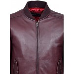 70 S RETRO BOMBER Men s Oxblood Classic Soft Italian Napa Leather Jacket 1229, Short Jackets, 1229 Oxblood, ,