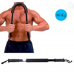 Deluxe Heavy Duty Double Spring Chest Expander - 80KG - Advanced Resistance