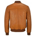 70 S Men s Real Leather Jacket Tan Retro Bomber Classic Soft Italian Napa 1229, Short Jackets, 1229 Tan, ,