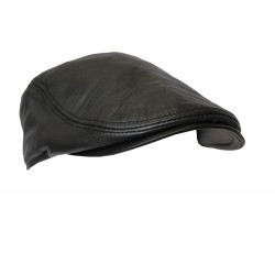 New Design Men Leather Ivy Cap BLACK Lambskin Bunnet Newsboy Beret Cabbie Gatsby Flat Golf Hat