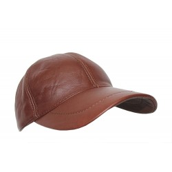 BASEBALL New Golf DARK BROWN PLAIN Men's Women Real Soft Leather HipHop Cap Hat Velcro Adjustable