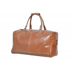 Large Tan Real Premium Leather Holdall Duffle Travel Sports Gym Designer Weekend Bag