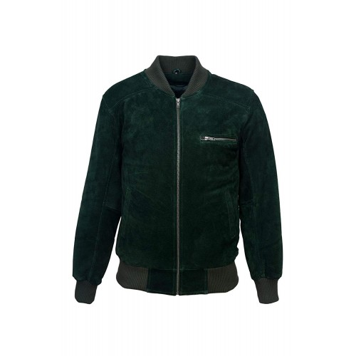 70 S Retro Bomber Men s Green Suede Cool Classic Soft Italian Leather Jacket 275-Z, Short Jackets, 275-Z Green, ,
