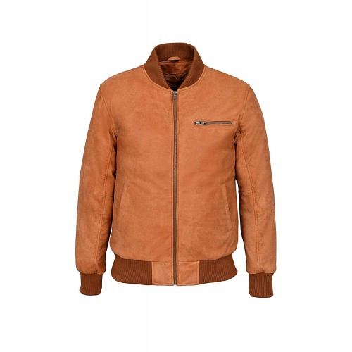70 s Classic Bomber Men s Tan Buff Biker Style Italian Fitted Real Leather Jacket 275, Short Jackets, 275 Tan Buff, ,