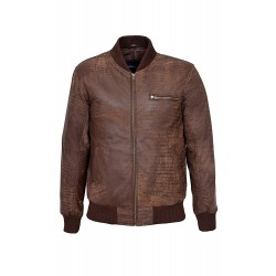70'S Retro Bomber Men's Brown Buff Cool Classic Soft Italian Leather Jacket 275