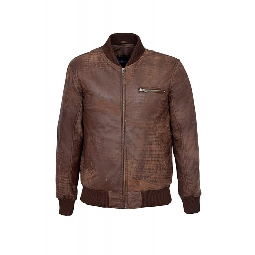 70 S Retro Bomber Men s Brown Buff Cool Classic Soft Italian Leather Jacket 275, Short Jackets, 275 Brown Buff, ,