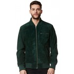 Men s Real Leather Jacket Green Suede Classic Biker Style Italian Fitted 275, Short Jackets, 275  Green, ,