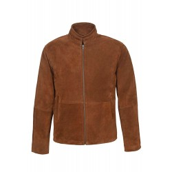 New Men's Tom cruise mission impossible 5917 Tan Classic Biker Style Real Suede Leather Jacket