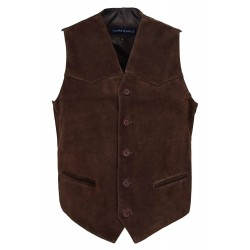 Men's New Brown Party Fashion Stylish Real Genuine Classic Designer Real Soft Suede Leather Waistcoats Vests