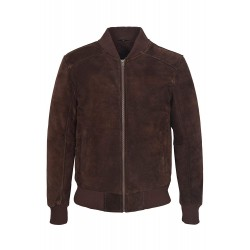Men's Brown Suede Classic Biker Style Italian Fitted Real Leather Jacket 275 P