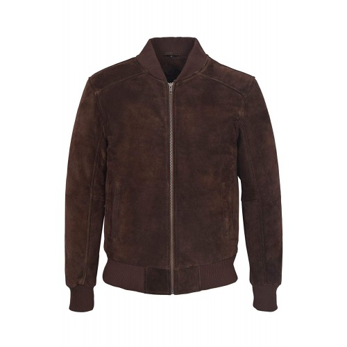 Men s Brown Suede Classic Biker Style Italian Fitted Real Leather Jacket 275 P, Short Jackets, 275-P Brown, ,