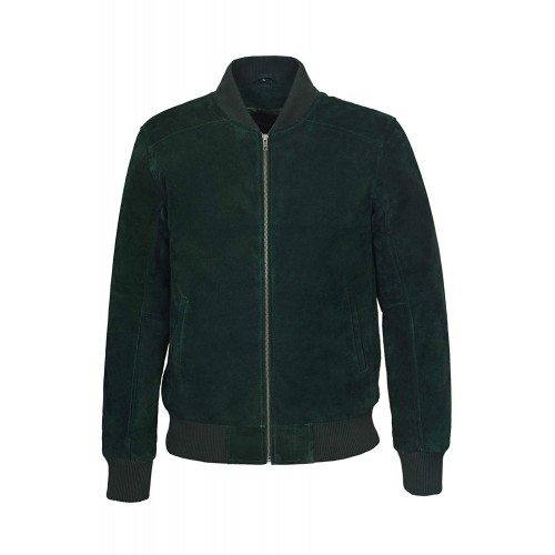 Men s Green Suede Classic Biker Style Italian Fitted Real Leather Jacket 275 P, Short Jackets, 275-P Green, ,