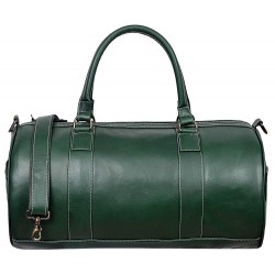Leather Weekend Bag Holdall New Stylish Duffel Travel Gym Men Women Ladies's overnight designer weekend 100% Genuine Glaze Leather bag 9098