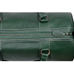 Leather Weekend Bag Holdall New Stylish Duffel Travel Gym Men Women Ladies s overnight designer weekend 100 Genuine Glaze Leather bag 9098, Leather Holdalls, 9080 Weekend Bag Green Glaze, ,