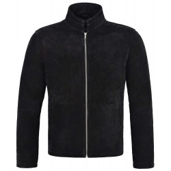 New Men's Real Leather Jacket Black Suede Biker Motorcycle Fashion Style 5917