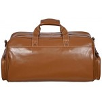 Leather Weekend Bag Brown Travelling Luggage Holdall Sports Classic Bag 9225 Tan, Leather Holdalls, AZUK Weekend Bag 9225 Tan, ,