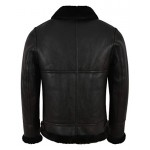 Grand Men s B3 Black Fur Shearling Sheepskin Leather Jacket Bomber Flying RAF NV-65, Sheepskin, B3 Black NV-65, ,