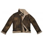 Men s B3 Fur Shearling Sheepskin Leather Jacket Vintage Rust Wood Jungle Effect 100 Genuine, Sheepskin, Rust Vintage B3, ,