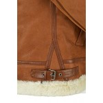 Men's B3 Shearling Sheepskin Jacket Tan Whisky Beige Fur Bomber Pilot RAF NV-65, Sheepskin, Whisky NV-65, ,