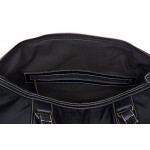 Leather Weekend Bag Holdall New Stylish Black Duffel Travel Gym Men Women Ladies s overnight designer weekend 100 Genuine Glaze Leather bag 9098, Leather Holdalls, 9080 Weekend Bag Black Glaze, ,