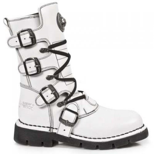 NEW ROCK COMFORT-FIT M.1473-S14 WHITE Leather Boots (SPIDER LINER), COMFORT-LIGHT, COMFORT-FIT M.1473-S14, COMFORT-FIT M.1473-S14,