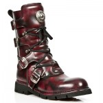 NEW ROCK COMFORT-FIT M.1473-S4 BURGUNDY Leather Boots, COMFORT-LIGHT, COMFORT-FIT M.1473-S4, COMFORT-FIT M.1473-S4,