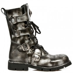 NEW ROCK COMFORT-FIT M.1473-S5 STEEL, BLACK Leather Boots