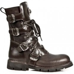 NEW ROCK COMFORT-FIT M.1473-S8 BROWN Leather Boots