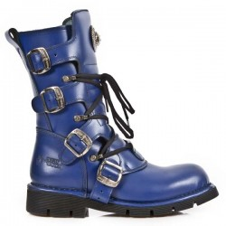 NEW ROCK COMFORT-FIT M.1473-S9 BLUE Leather Boots