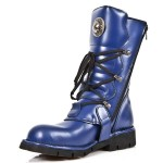 NEW ROCK COMFORT-FIT M.1473-S9 BLUE Leather Boots, COMFORT-LIGHT, COMFORT-FIT M.1473-S9, COMFORT-FIT M.1473-S9,