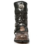 NEW ROCK COMFORT-FIT M.1473-S33 PYTHON BROWN Leather Boots, COMFORT-LIGHT, COMFORT-FIT M.1473-S33, COMFORT-FIT M.1473-S33 PYTHON,