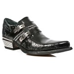 NEW ROCK DALLAS M.WST002-S1 VINTAGE BLACK FLOWER Leather Metal Heel Cowboys Shoes, DALLAS, DALLAS M.WST002-S1, DALLAS M.WST002-S1,