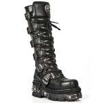 NEW ROCK METAL TOE M.272MT-S1 BLACK REACTOR LEATHER BOOT, METAL TOE, METAL TOE M.272MT-S1, METAL TOE M.272MT-S1,