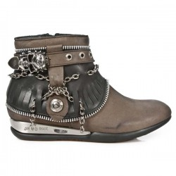 NEW ROCK APACHE M.HY101-C1 ITALI INDIANA BROWN HEEL BLACK HYBRID