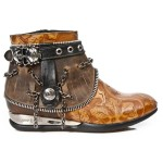 NEW ROCK APACHE M.HY101-C8 VINTAGE ALASKA FLOWER BLACK LEATHER SHIFTING, APACHE, APACHE M.HY101-C8, APACHE M.HY101-C8,