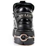 NEW ROCK METALLIC M.106-S1 BLACK Leather Steel Tower Heel Shoes, METALLIC, METALLIC M.106-S1, METALLIC M.106-S1,