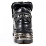 NEW ROCK METALLIC M.110-S1 BLACK Leather Spikes Reactor Sole Shoes, METALLIC, METALLIC M.110-S1, METALLIC M.110-S1,