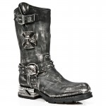 NEW ROCK MOTOROCK M.MR030-S2 VINTAGE BLACK STEEL HEEL LEATHER BOOTS, MOTOROCK, MOTOROCK M.MR030-S2, MOTOROCK M.MR030-S2,