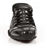 NEW ROCK ABS M.8122-S5 Black And Silver Leather Trainer Shoes, ABS, ABS M.8122-S5, ABS M.8122-S5,