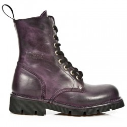 NEW ROCK NEWMILI M.NEWMILI084-S3 LILAC LEATHER LACE UP BOOTS
