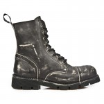 NEW ROCK NEWMILI M.NEWMILI083-C5 VINTAGE BLACK LEATHER LACE UP BOOTS, NEWMILI, NEWMILI M.NEWMILI083-C5, NEWMILI M.NEWMILI083-C5,