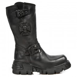 NEW ROCK OXIDO MILITAR M.1601-S8 BLACK TOBERAS OXIDE REACTOR MILITARY LEATHER BOOTS