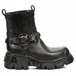 NEW ROCK OXIDO MILITAR M.1621-S8 BLACK OXIDE MILITARY LEATHER BOOTS